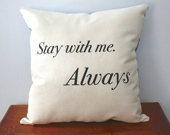 Decorative Pillow-Stay With Me Always-Blue Floral