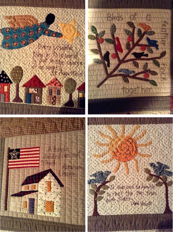 Quilt Pattern Sweet And Simple Applique Quilt By
