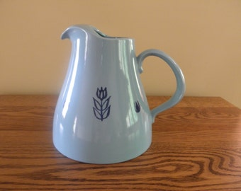 Cronin Pitcher with Blue Tulips