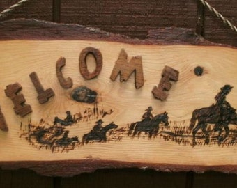 Rustic Trail Ride Welcome Sign