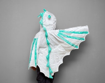 ready to ship dragon costume halloween costume white and mint childrens costume - Dragon Toddler Halloween Costume