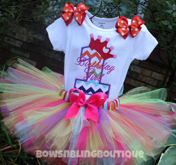 First Birthday Outfit Rainbow Chevron 1st By