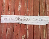 Wood Family Name Sign, Personalized Last Name Sign, Old Barn Wood Sign