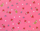 """Half Yard of Natlie Lymers """"Folktale"""", Fairy Fabric, Toadstool Fabric, Japenese Fabric, Quilting Supplies, Craft Supplies, Quilty Cottons"""