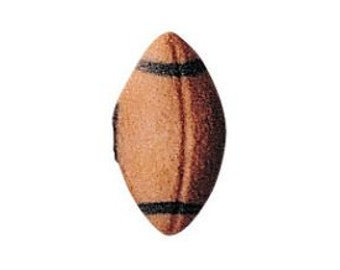 Football Edible Sugar Dec Ons-Perfect for cupcakes, cookies and brownies. Packed in a set of 12.