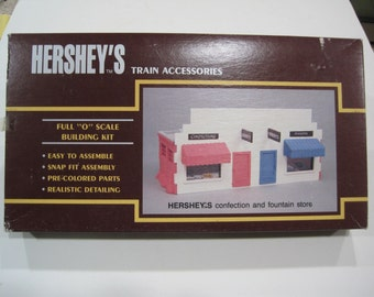K Line Hershey's Confection and Fountain Store O Gauge Train Set Building Kit K-41052