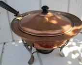 Copper Chafing Dish - 1960's - Serviceware