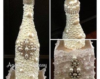 Decorated Champagne Bottle (Memory Bottle)