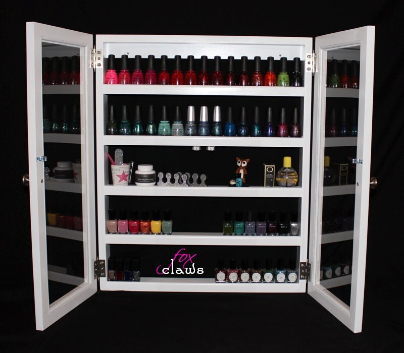 Nail Polish Rack Large Roxy W Door Bead Craft Paint By