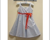 Sewing pattern LITTLE CUP CAKE dress pattern by Felicity Patterns girls pdf sundress pattern sizes 1-10 years includes 4 variations