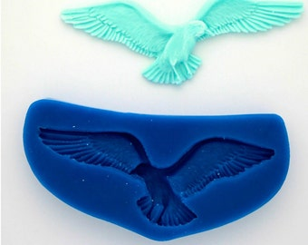 AMERICAN EAGLE SILICONE Mold For Fondant, Gum Paste, Chocolate, Hard Candy, Fimo, Clay, Soaps