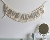 Love Always Glittering Fringe Banner  - Garland, Party Banner decor, Photo Prop, and Home Decor - original design fringe banner - FunCult