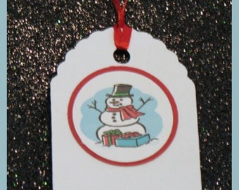 Snowman gift tags, Frosty the Snowman gift tags, Snowman favor tags, set of 10