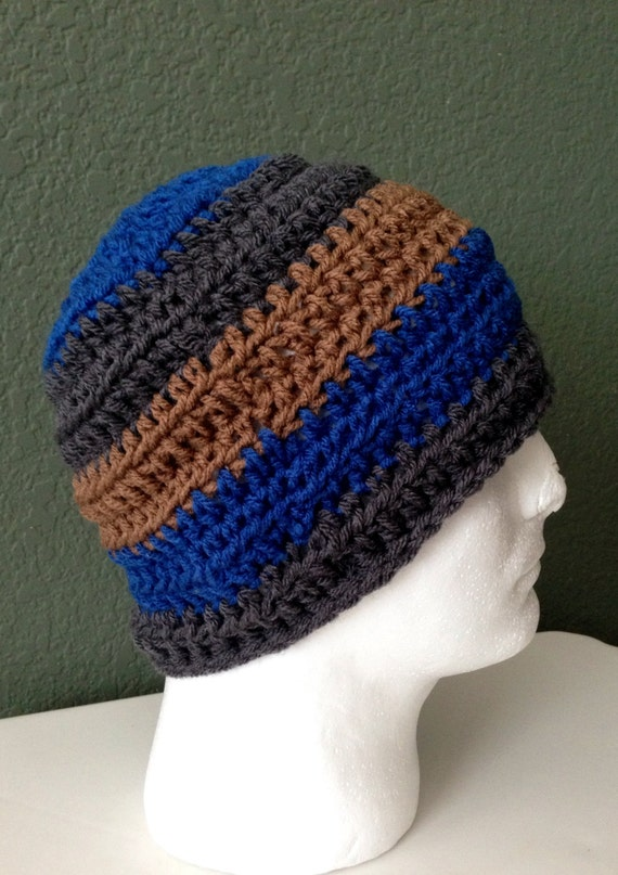 Mens Crochet Beanie/ Skull cap. RESERVED for Linda by Africancrab