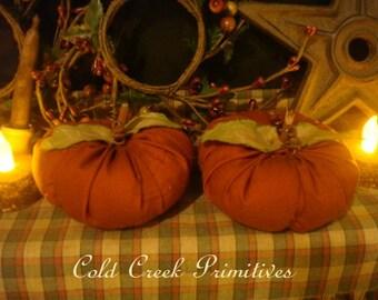 Primitive small pumpkins set of 2