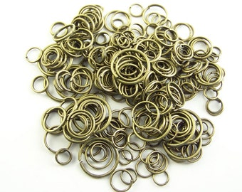 Jump Rings Antique Bronze Various Sizes 1 oz