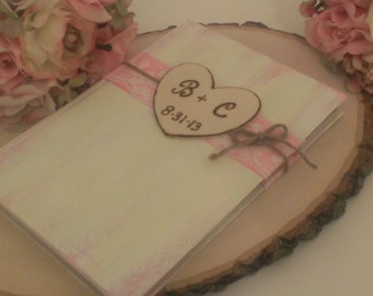 Personalized shabby chic guest book, vintage  wedding guest book, rustic wedding decor