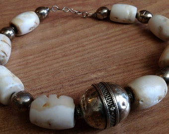 Natural Coral And Turkoman Beads Necklace