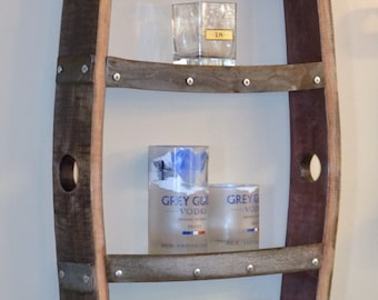 Wine Barrel Stave Shelf