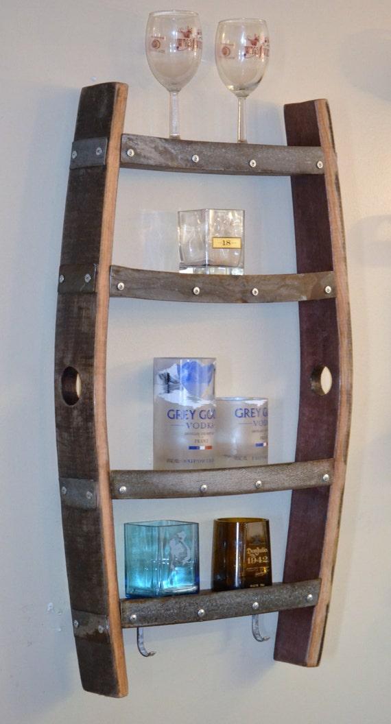 Wine barrel stave shelf - Tonneau en bois ...