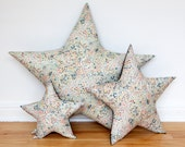 "Star shaped Cushion / Pillow  Liberty  fabric "" Limited edition"" Big"