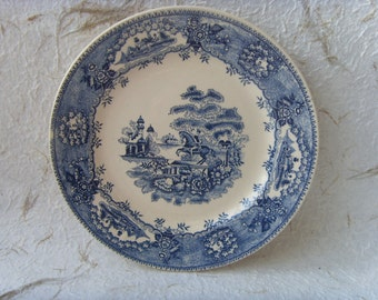 German Vintage Decorative Plate Made in DDR in 1970s