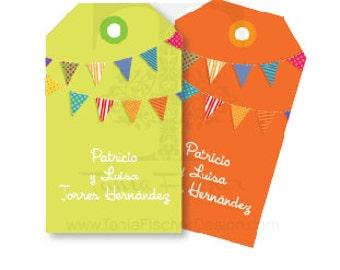 Banner gift tags/ Tarjetas Tag Banderines