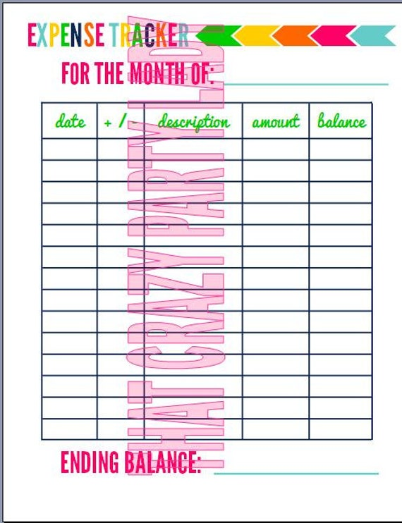 Items similar to Expense Tracker Printable on Etsy