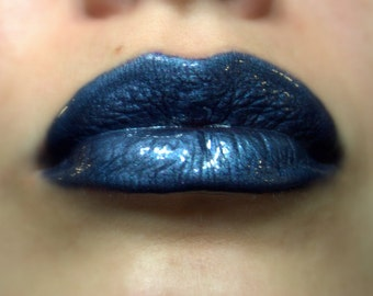 Richelle - Dark Grey-Blue/Metallic   Liquid Lipstick/Lip gloss