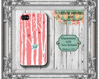 Love Birds iPhone Case, Personalized iPhone Case, iPhone 4, iPhone 4s, iPhone 5,  iPhone 5s, iPhone 5c, iPhone 6,Phone Cover