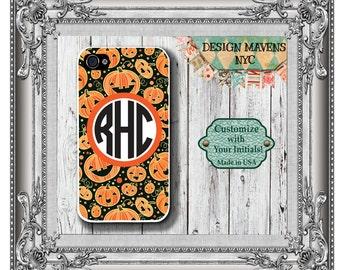 Pumpkin iPhone Case, Halloween iPhone Case, Personalized iPhone Case, iPhone 4, 4s, iPhone 5, 5s, 5c, iPhone 6, 6 Plus, Phone Case