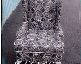Modern Upholstered Wingback Chair