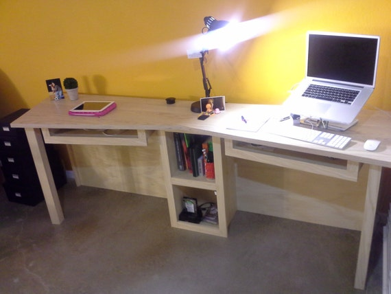 Items similar to custom white ash modern two person desk Desk for two persons