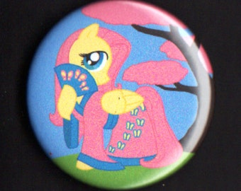 1.75 inch Fluttershy Button