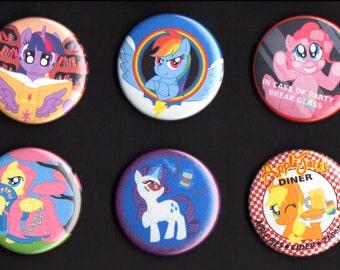 My Little Pony Friendship is Magic - Mane Six Button Set