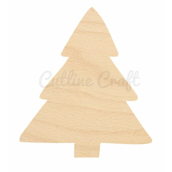 Simple christmas tree cutout id 185 crafts gift tags for Wooden christmas cutouts
