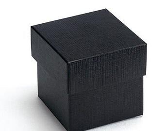 Black Square Wedding Favor Boxes - 10 Set