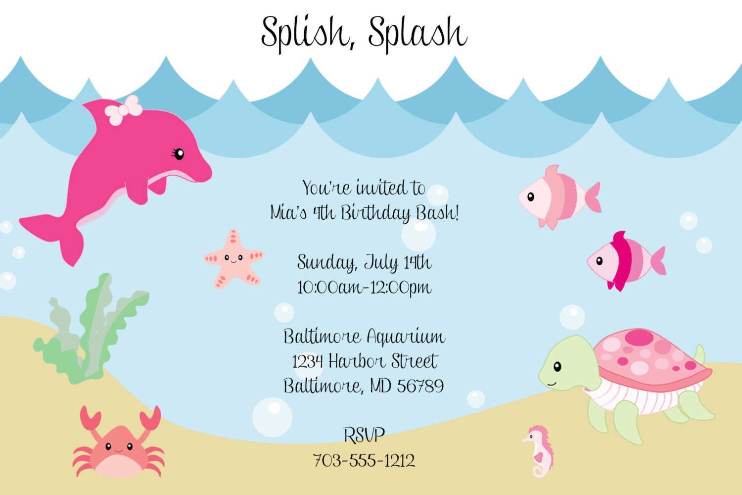 100+ [ Turtle Baby Shower Invitations ] | Pink Turtle Baby Shower ...