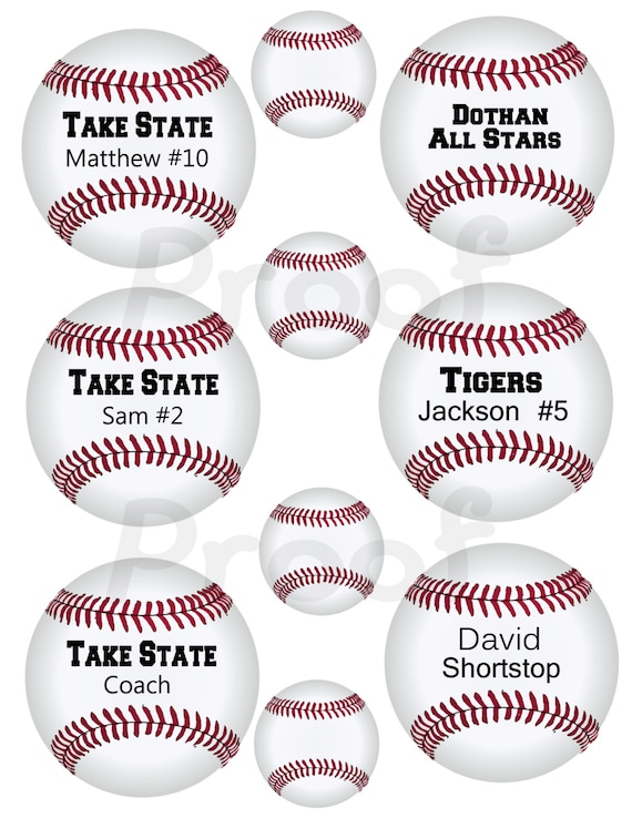 inch Printable BASEBALL tags or labels. I'll add your text then ...