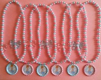 Cinderella Party Favor Stretch Necklaces Set of 6