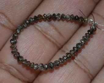 AAA Quality Brown Diamond Roundel Faceted 2.20 mm