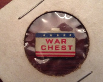 WW II - War Chest Pin - Very Rare