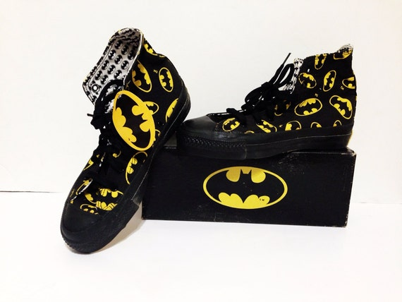 Vintage 80s Batman CONVERSE All Star High Top Dead Stock NIB Sneakers ...