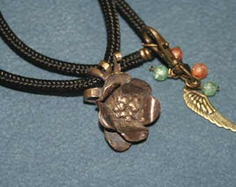 brass flower necklace