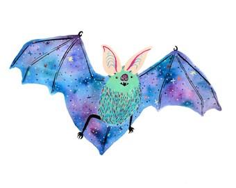 Space Bat Print