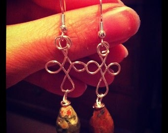Wire with Ryolite Earrings
