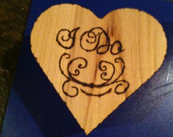 "Rustic ""I Do"" Heart Box"