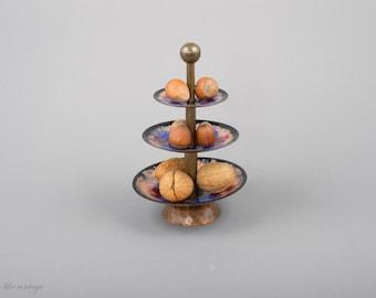Modernist Three-Tier Dessert Stand Enamel