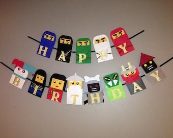 Ninjago birthday banner, Ninjago birthday, Ninjago party, Nijago party decorations, Ninjago party