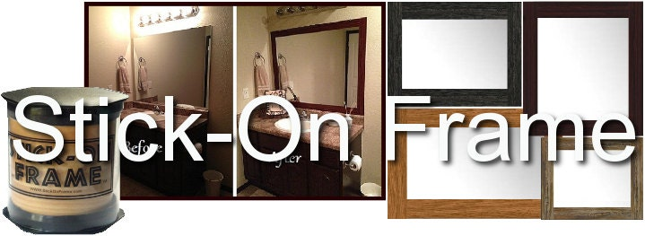 Stick On Frame Adhesive Frame For Bathroom Mirrors And Wall